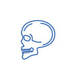 skull front view line icon concept skull front vector image vector image