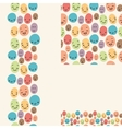 Smiley faces set of seamless patterns and borders vector image vector image