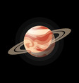 space planet with transparent rings vector image