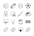 team sports icons vector image vector image
