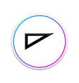 triangular ruler icon straightedge symbol vector image vector image