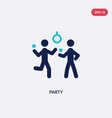 two color party icon from activities concept vector image