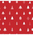 white christmas tree pattern vector image vector image