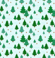 Winter forest pattern vector image vector image
