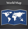 world map on a black background vector image vector image