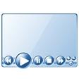 multimedia player controls vector image