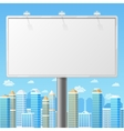 Blank billboard with urban background vector image
