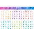 180 trendy perfect gradient icons set seo vector image vector image