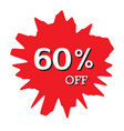 60 off discount price tag abstract price tag vector image vector image