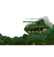 A military tank vector image vector image