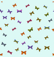 abstract colorful doodle butterflies vector image