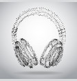 abstract dotted headphones on white abstract vector image vector image