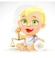 Baby zodiac - sign Libra vector image vector image