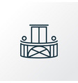 balcony icon line symbol premium quality isolated vector image