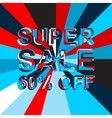 Big ice sale poster with SUPER SALE 60 PERCENT OFF vector image vector image