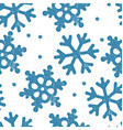 Blue snowflakes pattern seamless Stamp textured vector image vector image