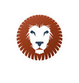 brave lion ancient emblem animal element heraldic vector image