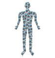 calculator man figure vector image vector image