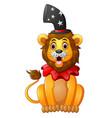 cartoon lion circus vector image vector image