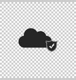 cloud and shield with check mark icon isolated on vector image vector image