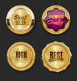 collection golden badges and labels retro vector image vector image