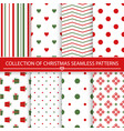 collection of christmas seamless patterns vector image vector image