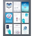 Computer Technology Templates flyer vector image vector image