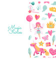 cute cartoon magic and fairytale elements vector image