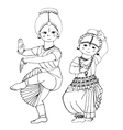 dancing Indian girls vector image