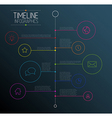 Dark infographic timeline report template vector image