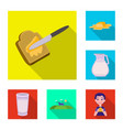 design of creamy and product icon vector image