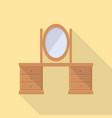 dressing table icon set of great flat icons use vector image