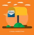 e-mail marketing conceptual design vector image