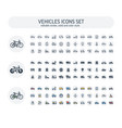editable stroke solid color style icons vector image