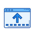 file moving line icon vector image