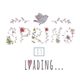 Floral elements of vintage Phrase Spring is vector image vector image