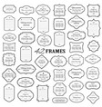 frames and borders mega set isolated on white vector image vector image
