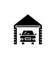 garage black icon sign on isolated vector image