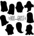 ghost silhouette vector image vector image