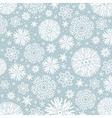 Grey background with snowflakes vector image vector image