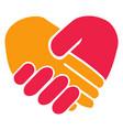 handshake heart vector image