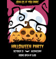 happy halloween invitation poster vector image vector image