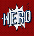 hero vintage 3d lettering vector image