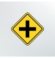 Intersection ahead road icon vector image vector image