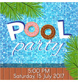 invitation to pool party vector image