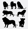 Lion wild animal silhouette vector image vector image