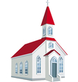 little county christian church vector image vector image