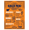 Menu restaurant food template vector image vector image