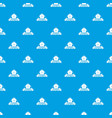 nature food pattern seamless blue vector image vector image