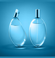 perfume bottles different forms isolated on vector image vector image